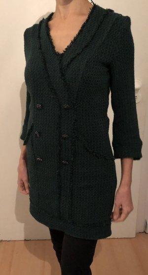 Zara Midi-jurk donkergroen-bos Groen
