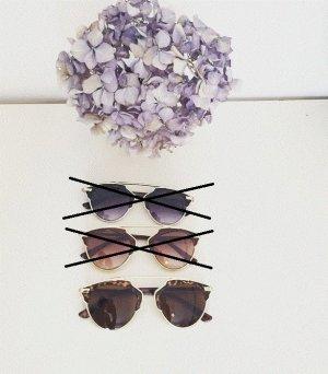 NEU Blogger Sonnenbrille Brille Vintage Stil Retro Klassisch Brillen braun leo leo-muster gold