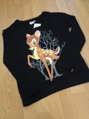 NEU Blogger Sweatshirt Disney Bambie Pullover Shirt XS 32 34 Primark TOP