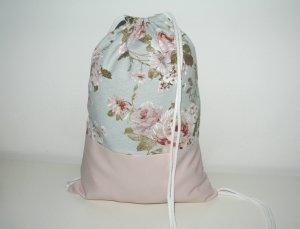Zaino per la scuola rosa pallido-azzurro
