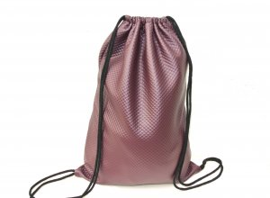 Neu - Blogger Turnbeutel Gym Bag Rucksack Bordeaux Leder Optik -