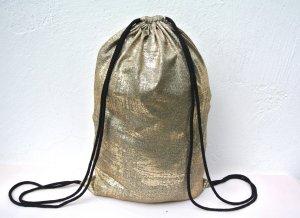 Neu°Blogger Turnbeutel Gym Bag Rucksack gold metallic °