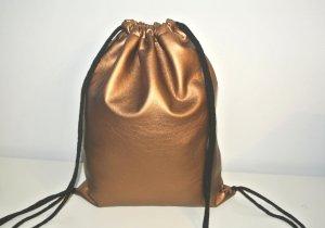 Neu°Blogger Turnbeutel Gym Bag Rucksack Kupfer Bronze Kunstleder°