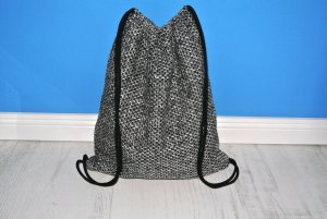 Neu°Blogger Turnbeutel Gym Bag Rucksack Tweed°