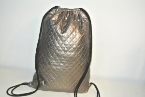 Neu°Blogger Turnbeutel Rucksack Metallic Leder Optik Impressionen°