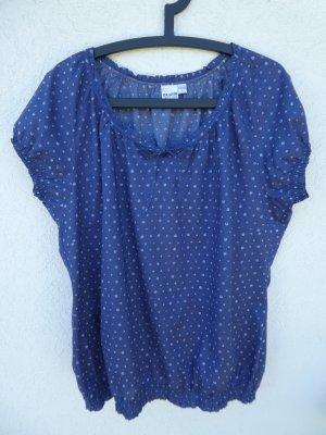 NEU – Blue Motion – Damen Bluse blau mit hellblauen Punkten