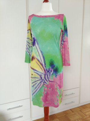 Blumarine Midi Dress multicolored silk