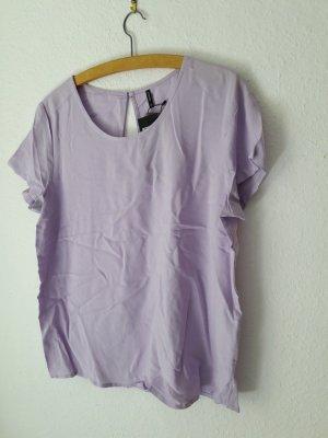 Neu Bluse Blusen-Shirt Only violett 38 Etikett kurzarm flieder