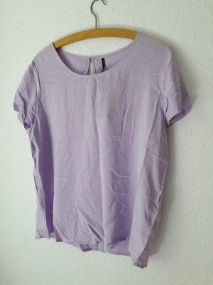 Neu Bluse Blusen-Shirt Only violett 40 mit Etikett kurzarm flieder