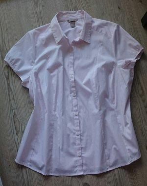 NEU! Bluse, Größe 52, rose weiß gestreift