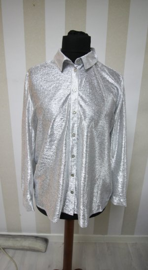 NEU Bluse Hemd Disco Silber wow