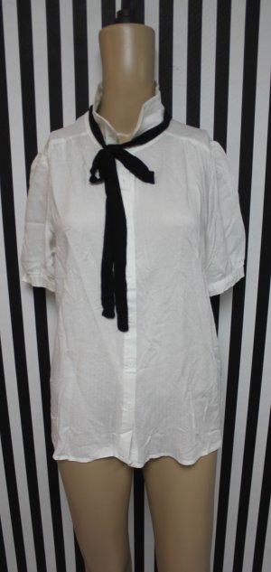 Neu Bluse Hemd Schleifchen chic Shirt Gr L (38/40 )