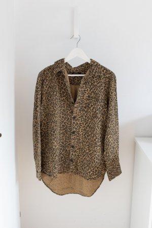 - NEU - Bluse / Hemd von ZARA (Premium) Gr. M - Leopardenmuster