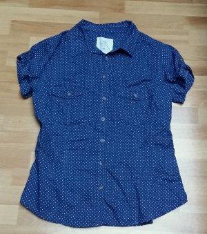 NEU Bluse in blau-weiß gepunktet Gr. 42 von H&M