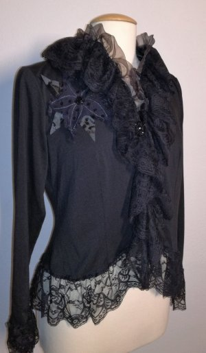 Biba Lace Blouse black cotton