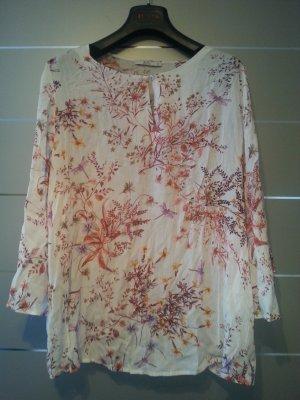 NEU! Bluse von EDC, weiß mit Blumenmuster, Größe XL
