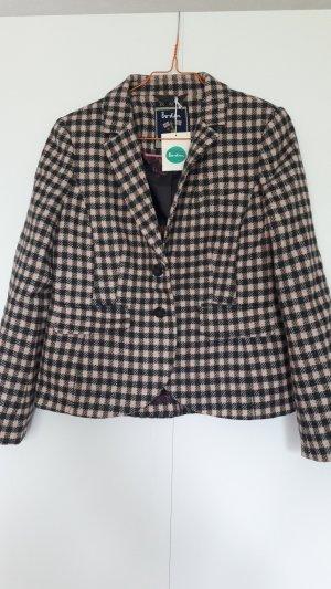 NEU Boden Tweedblazer Wolle Petite-Größe kariert rosa grün blau Gr. 36