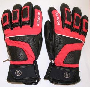 Bogner Padded Gloves black-raspberry-red