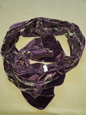 Bonita Sjaal groen-grijs-grijs-paars