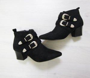 Botas negro-color plata