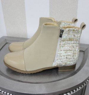 NEU Boots Tweed Boucle Stoff Design