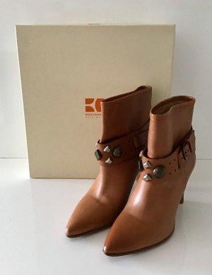 Boss Orange Slip-on Booties brown