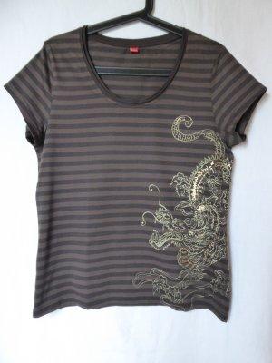NEU: Braun-gestreiftes T-Shirt von S.Oliver