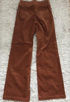 H&M Corduroy Trousers brown-cognac-coloured