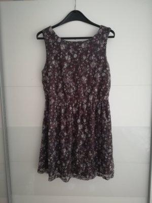NEU! braunes Kleid mit Blumen
