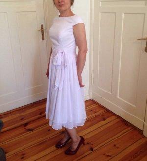 Vestido de baile blanco-gris claro