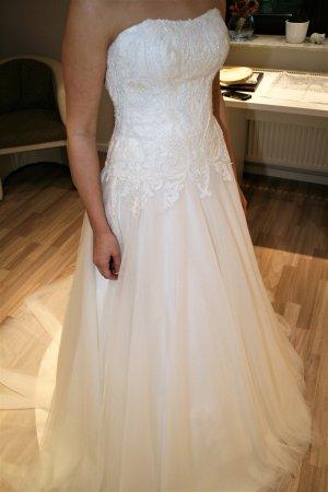 Agnes Wedding Dress oatmeal polyester