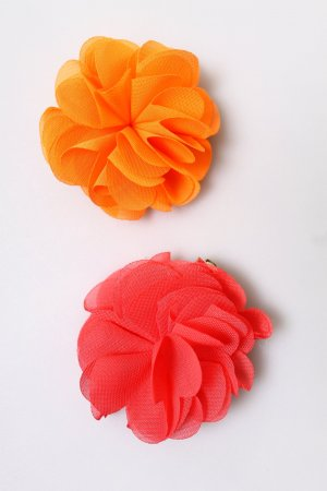 NEU Brosche & Spange pink orange