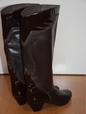 Brunella Riding Boots dark brown-brown leather