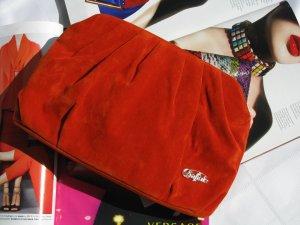 NEU! Buffalo Clutch Tasche aus Samt mit Reissverschluß