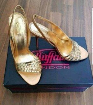 Neu Buffalo Stilettos in gold gr.39