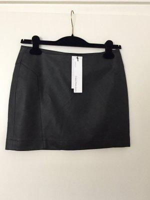 Neu Calvin Klein Faux Leather Rock Schwarz S