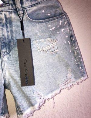 Calvin Klein Pantalón corto de tela vaquera azul-azul claro