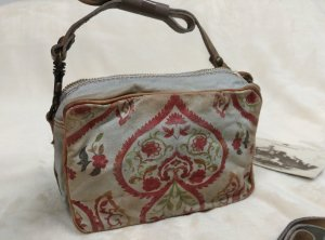 NEU! *Campomaggi* Canvas Tasche Crossbody Bag Umhaengetasche retro