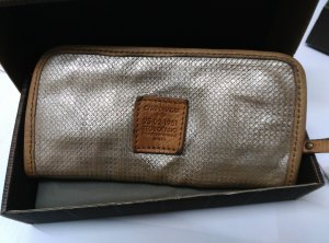 Campomaggi Wallet beige-silver-colored leather