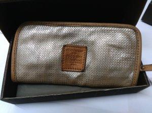 NEU! Campomaggi Geldbörse Portemonnaie Beige+Silber