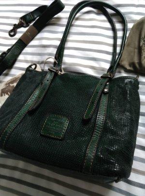 NEU! Campomaggi Leder Schultertasche in dunkelgrün NP:380€