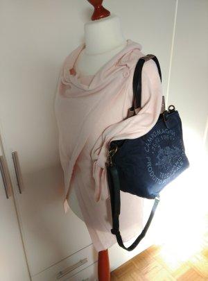NEU! CAMPOMAGGI Schultertasche Crossbody Bag blau Baumwolle+Leder