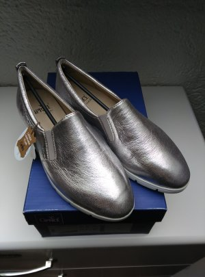 Caprice Slip-on Shoes silver-colored-light grey leather