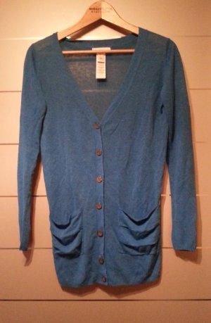 Neu, Cardigan / Pullover von Mango, blau, Größe S / 36, Leinen Mix