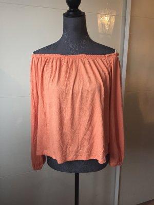 NEU Carmenbluse Carmenshirt M 38 orange