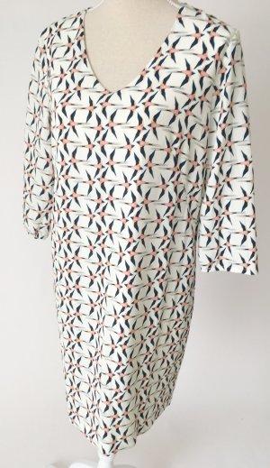 * NEU * cartoon daydream Kleid Midikleid 38 M creme blau pink Schwalben Vögel casual style