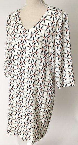 * NEU * cartoon Kleid 38 M Schwalben weiß blau apricot casual festlich