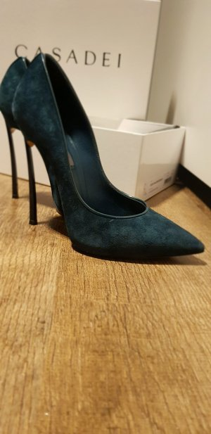 Casadei Business Shoes petrol-dark green