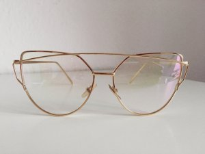 NEU • Cat Eye Sonnenbrille in Gold