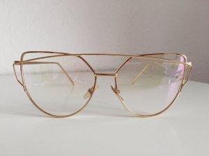 NEU • Cat Eye Sonnenbrille in Gold